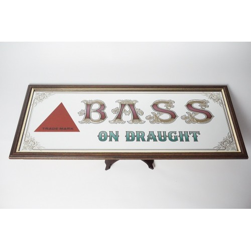 Bass Ale on Draught trademark Bar spiegel / mirror, ENKEL OPHALEN