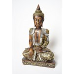 Boeddha beeld Bhumisparsha-Mudra met spiegeltjes