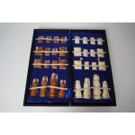 Antiek Chinees handgemaakt schaakspel van been, ongeveer 1920