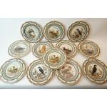 Regina aardewerk 12 unieke borden zeldzame vogels in europa