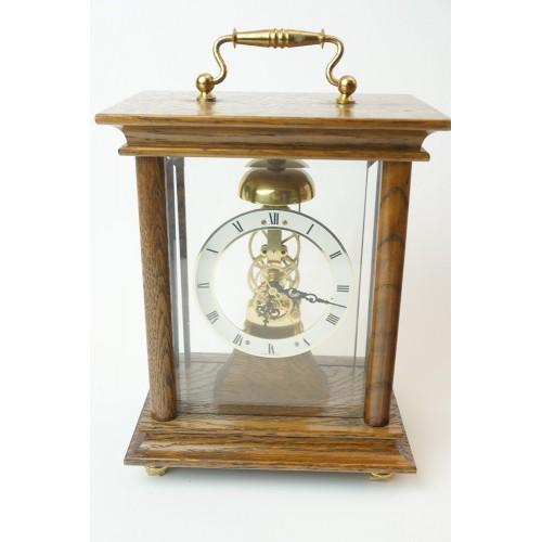 Skelet tafel klok hout kast (skeleton table clock) germany