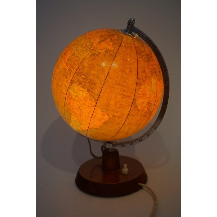 Glazen staatkundige Rath globe met verlichting - 2e helft 20e eeuw