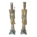 Japanse beeldjes van man en vrouw gemaakt van been