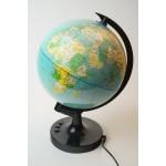 Wereld globe van kunststof die draait met verschillende kleuren