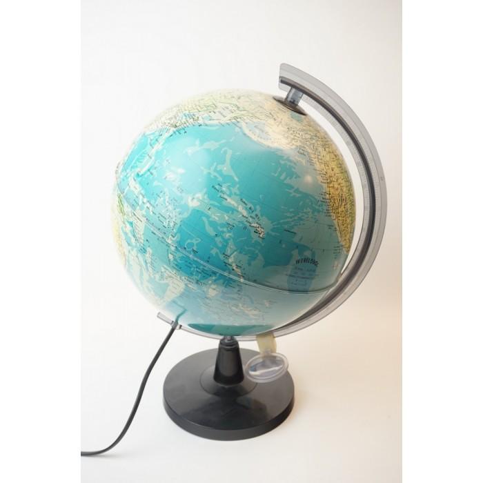 Wereld globe van kunststof met verlichting no 1