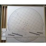 Leger Artillerie plotting board voor M-30 mortier