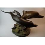 C. Valton Brons dolfijnen beeld, dolfijn