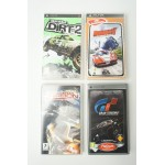4 x psp game, Gran Turismo, Burnout Legends, Colin McRae Dirt 2, NFS Carbon