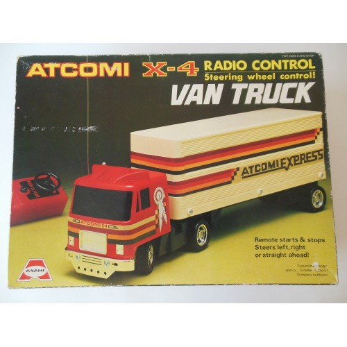 Vintage atcomi atlantic x-4 radio control van truck
