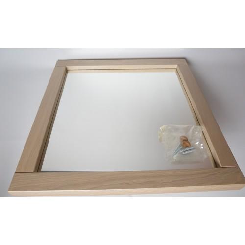Design spiegel met lijst van hout, ENKEL OPHALEN