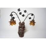 Mooie Beeld lamp gesigneerd Prof. G. Bessi Tafellamp