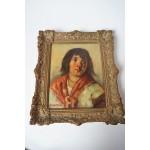 H. Vredeveldt schilderij van jonge vrouw met antieke lijst
