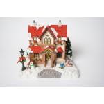 Kerst huisje - dorp met geluid en verlichting - kerstdorp (11)