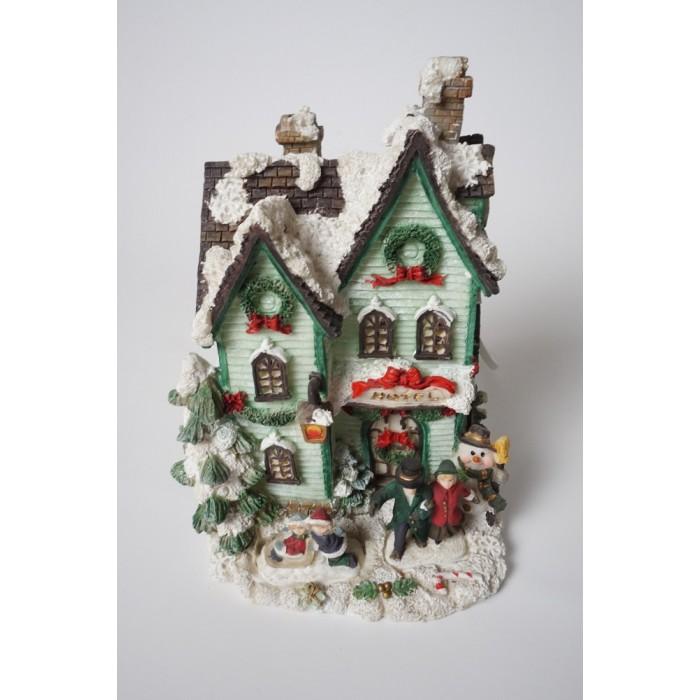 Kerst huisje - dorp met verlichting - kerstdorp (5)