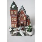 Kerst huisje - dorp zonder verlichting - kerstdorp (7)