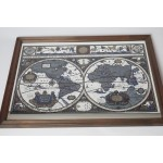 Mooie grote wereld plattegrond atlas bar spiegel / mirror, ENKEL OPHALEN