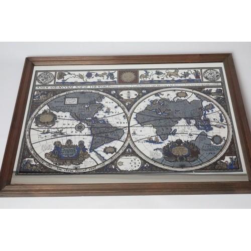 Mooie grote wereld plattegrond atlas bar spiegel mirror enkel ophalen - Decoratie bar ...