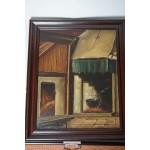 Olieverf schilderij van Hendrik Mathey op doek