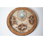Reliekschrijn met 4 heiligen o.a. St. Margaretha Alacoque Paus Pius X
