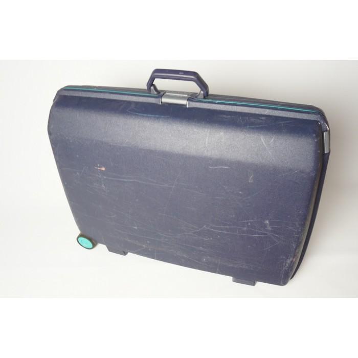 samsonite koffer blauw met cijferslot 75x60x25 cm. Black Bedroom Furniture Sets. Home Design Ideas