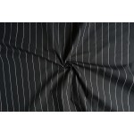 Zwart met witte streep stof